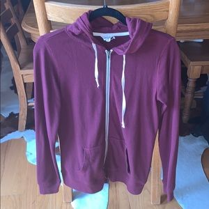 Maroon Zip Up Hoodie Medium